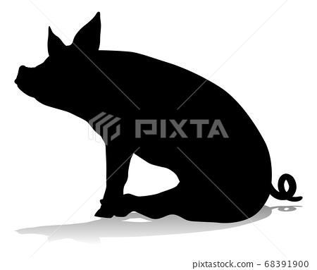 Pig Silhouette Farm Animal 68391900