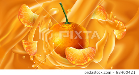 Whole and sliced mandarins in fruit juice. 68400421
