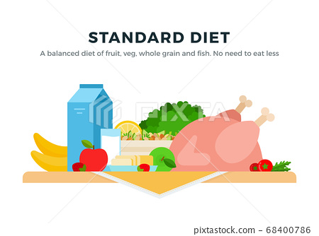 Standard Diet vector flat isolated vector flat isolated 68400786