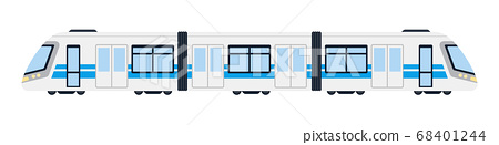 Modern passenger electric train for transportation Metro vector icon flat isolated illustration 68401244