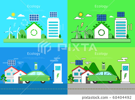 Business Vector Illustrations-Environment 68404492