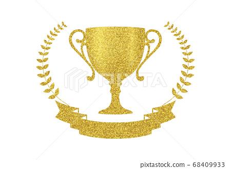 金色閃光元素設計獎杯 68409933