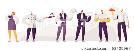 Restaurant Stuff. Male and Female Characters 68409967