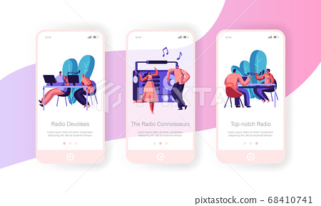 People and Radio Concept for Website or Web Page 68410741