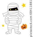 木乃伊人万圣节怪物图 68411881