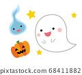 鬼,灵魂和南瓜万圣节插图 68411882