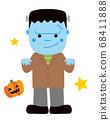 Frankenstein Halloween monster illustration 68411888