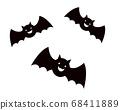 Bat Halloween illustration 68411889