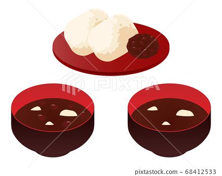 3-piece set of zenzai and soup powder 68412533