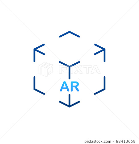 Virtual reality. AR for video game design. Media technology. Design concept augmented reality. Vector stock illustration. 68413659