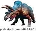 Triceratops dinosaur charging 3D illustration 68414823