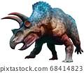 Triceratops dinosaur charging 3D illustration 68414823