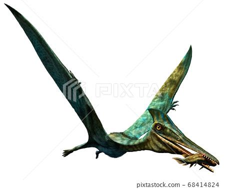 Pterodactylus prehistoric dinosaur 3D illustration 68414824
