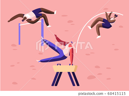 High Jump, over Barrier and with Pole, Exercise 68415115