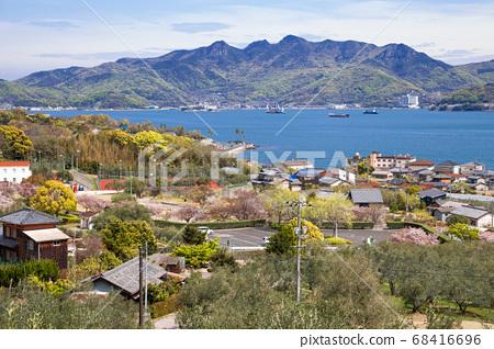 Shodoshima island seaside village at Olive park in Kagawa, Japan 68416696