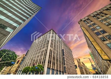 Buildings in downtown Los Angeles 68418858