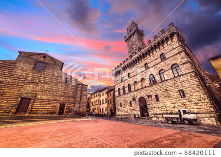 colorful sunset in Montepulciano Piazza Grande 68420111