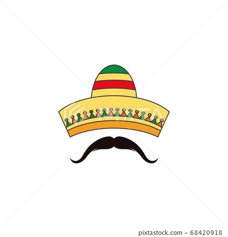 Mexico hat icon vector illustration 68420918