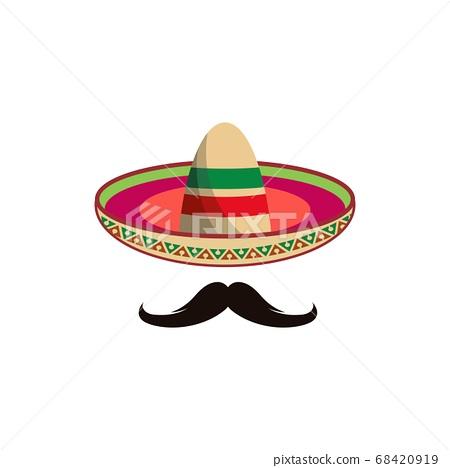 Mexico hat icon vector illustration 68420919