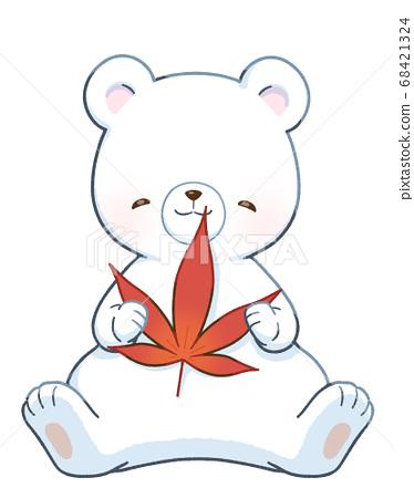 笑臉白熊和楓樹 68421324