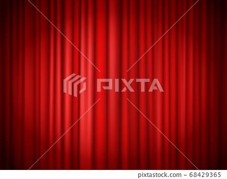 Red curtains background. Red curtain at stage for show 68429365