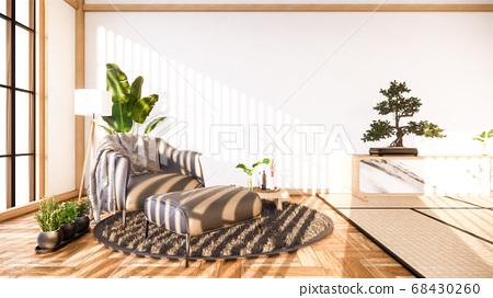 cabinet tv interior design has a armchair on empty 68430260