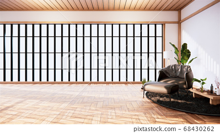 interior design has a armchair on empty room 68430262