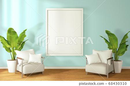 mint interior design have armchair on empty room 68430310