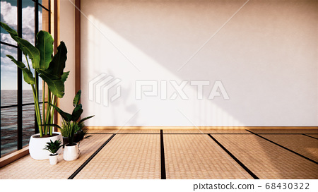 Japan room interior - Japanese style. 3D rendering 68430322