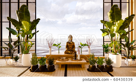 Tabernacle religion room asian style. 3D rendering 68430339