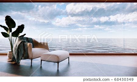 Japan room interior - Japanese style. 3D rendering 68430349