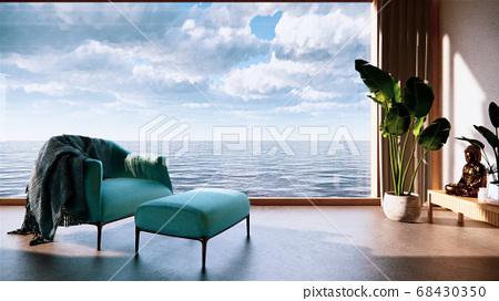 Japan room interior - Japanese style. 3D rendering 68430350