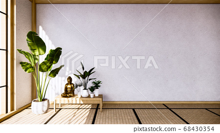 table Cabinet wooden design on living room zen 68430354
