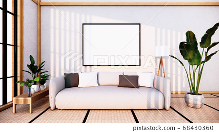Sofa japanese on room  japan and the white.3D 68430360