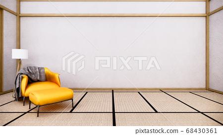 interior design has a armchair on empty room 68430361