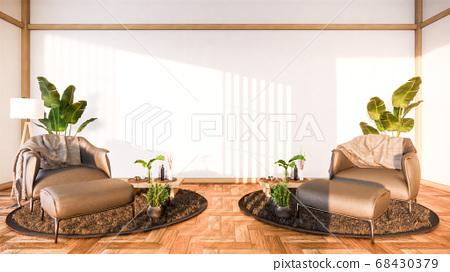 interior design has a armchair on empty room 68430379