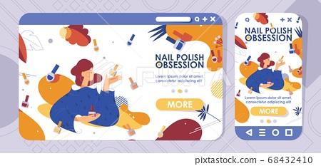 Landing page cross-platform design nail polish 68432410