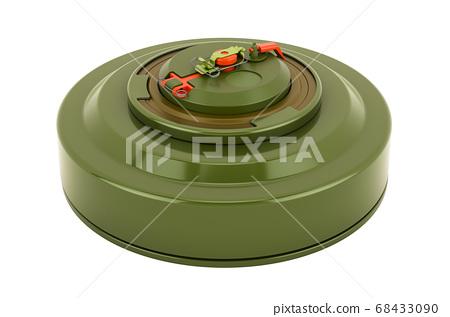 Anti-tank mine, 3D rendering 68433090