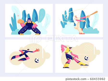Various Kind of Sport Set, Games and Players 68433992