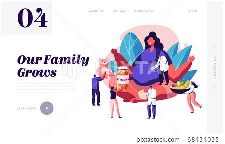 Pregnancy Website Landing Page. Pregnant Woman 68434035