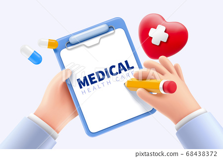 Doctor keeping medical record 68438372