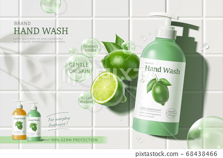 Hand wash ad template 68438466