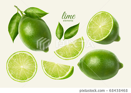 Fresh lime set 68438468