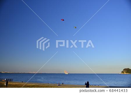 New year kite raising 68441433