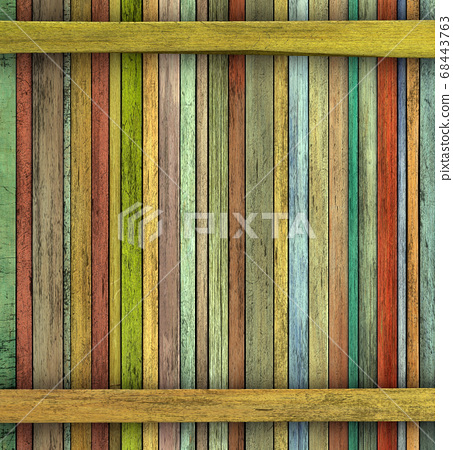 abstract grunge 3d render colored wood timber 68443763