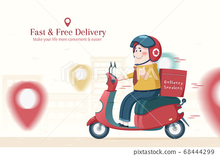 Food delivery service 68444299
