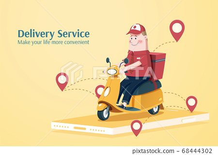 Food delivery service 68444302