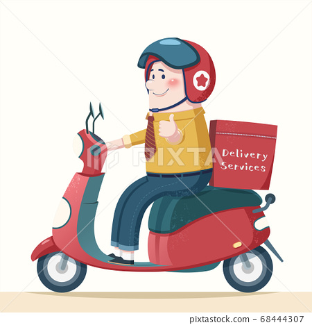 Cartoon courier character design 68444307