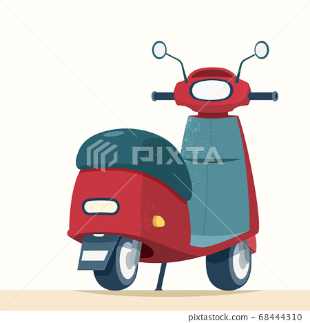 Trendy scooter from rear view 68444310