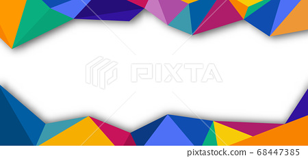 Abstract banner template design colorful low poly 68447385